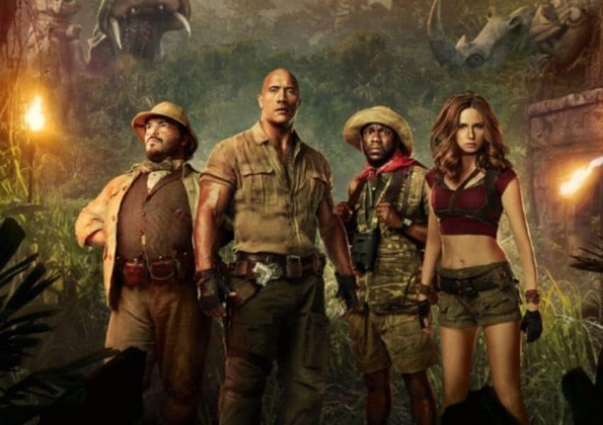 Jumanji 2 cast photo