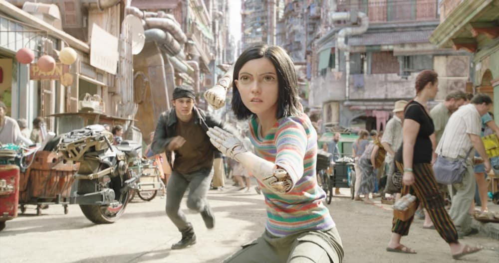 Rose Salazar as Alita in Alita: Battle Angel
